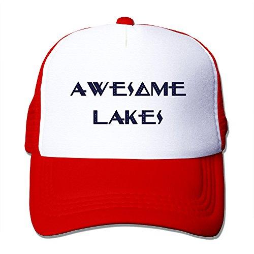 Mens Awesome Lakes Mesh Back Baseball Cap Trucker
