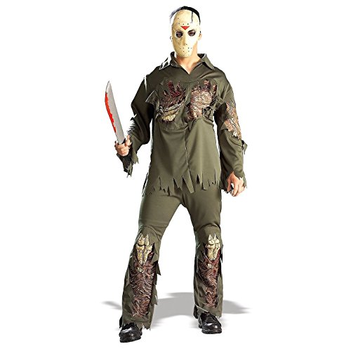 Jason Costume For Men (Rubie's Costume Co. Men's Friday the 13th: Super Deluxe Jason, AS Shown, Standard)