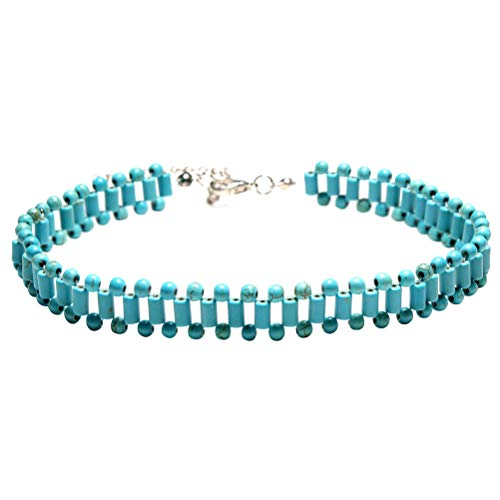 Fashion Handmade Weave Necklace Turquoise Clavicle Necklace Choker for Women Girls