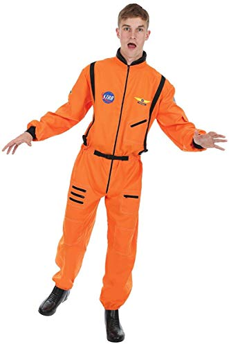 Mens Orange Astronaut Spaceman Space NASA Halloween Costume Standard