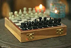 Amazon Com Unique Chess Set 32 Pieces Soapstone