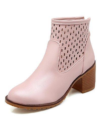 us10 Pink Kitten Uk8 5 Botas Moda Blue Punta De 5 Tacón La Azul Xzz A Vestido negro Cuero Zapatos Mujer Redonda 5 Cn43 Sintético Eu42 Casual Exterior us10 wCqUgIF