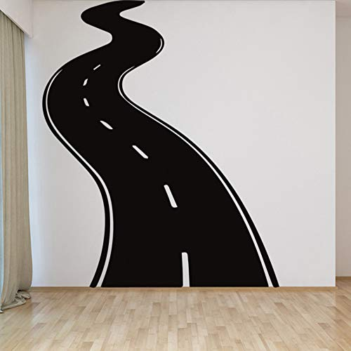 HDWPSHHY A Highway Design Wall Stickers Children's Room Vinyl Decoration Wall Stickers Home Decor Living Room Removable Sticker Mural ()