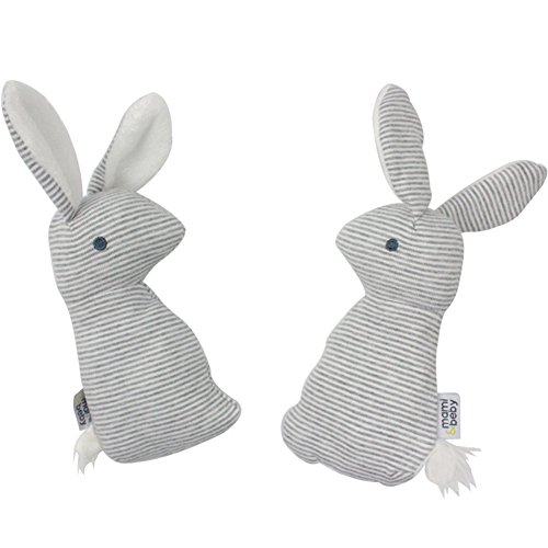 HaloVa Plush Rabbit Doll, Cute Soft Stuffed Animals Bunny Doll, Multi-functional Kids Toy Baby Bell Hand Stick Built-in Rattles