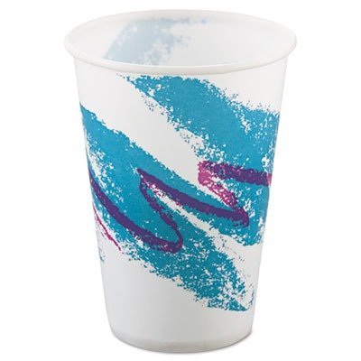 SOLO Cup Company quot;Jazz Waxed Paper Cold Cups, 10oz, Rolled Rim, 2000/Cartonquot; 20 packs of 100 cups each Unit of measure: CT, Manufacturer Part Number: SCC R10NNJ