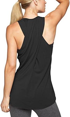 mippo Cruz de la mujer Volver Camisa sin mangas espalda cruzada de yoga ejercicio activo Tank parte superior