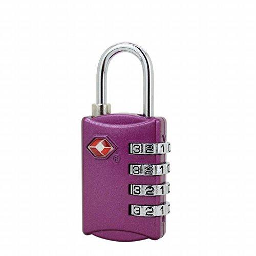 [RoseAmor 4 Dial TSA Security Combination Padlock Luggage Suitcases Random Color] (Bronze Decorative Coupler)