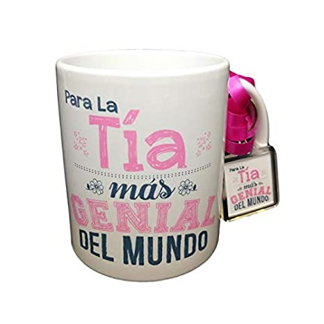 Taza Frase Y Llavero para LA Tia MAS Genial del Mundo Regalo ...