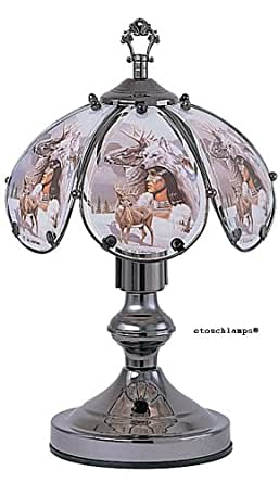 14 Inch Native American Touch Lamp 9 Table Lamps