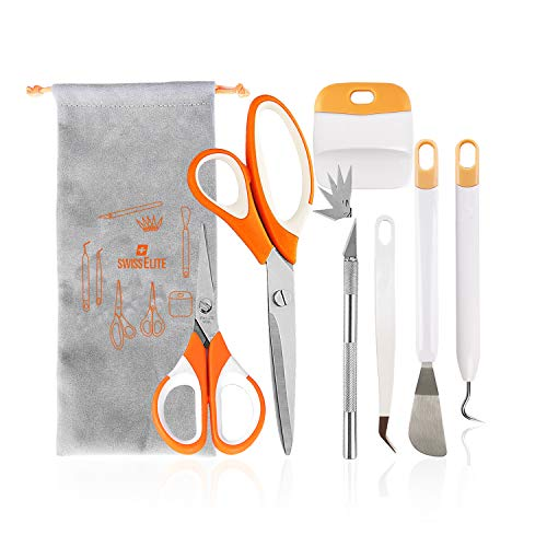 Vinyl Tools Weeding Craft Weeding Tool for Silhouettes,Cameos,Lettering,Carving (12Pcs)
