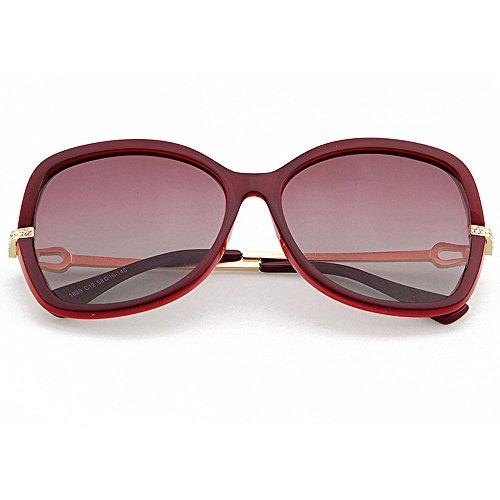 de Sol GWF Libre UV al polarizada Purple Gran Animal Protección Color Gafas Gafas tamaño de Gafas de Diseño de la Aire de Sol Red de Personalidad Lente Sol impresión 55PrHq4