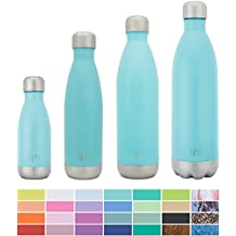 Simple Modern 17oz Wave Water Bottle - Vacuum Insulated Double-Walled 18/8 Stainless Steel Hot Cold Flask - Rock Candy Blue