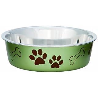 Loving Pets Metallic Bella Bowl, Large, Artichoke