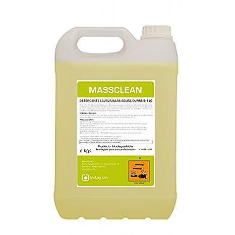 Induquim Jabón Detergente de Lavavajillas Máquina Especial Aguas Duras 6 Kg, Producto Profesional indicado en vajillas, cristalerías, cuberterías, ...