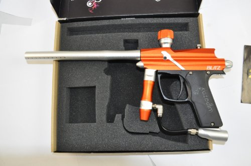 Paintball Guns Spyder Electronic (Azodin Blitz Electronic Paintball Gun - Orange / Silver)
