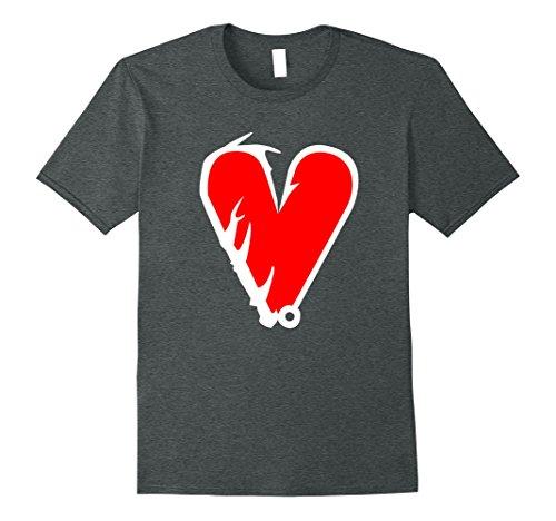 Mens Fishing Hunting True Love T Shirt Deer Hook 2XL Dark...