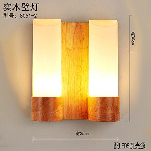 HRCxue Der Kopf des Bettes Wandleuchten LED-modernen, minimalistischen kreative Holz- künste Schlafzimmer Wohnzimmer eine Straße Corridor Hotel Wandleuchten 30  25 cm