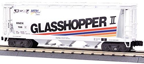 MTH 20-97442 Grasshopper II 3 Bay Cylindrical Hopper 2001 RNDX166 Premier Oscale (Premier Hopper)
