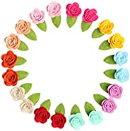 Frcolor Kids rose hair clip flower colorful hairpin barretes beauty accessories for baby girls 20pcs