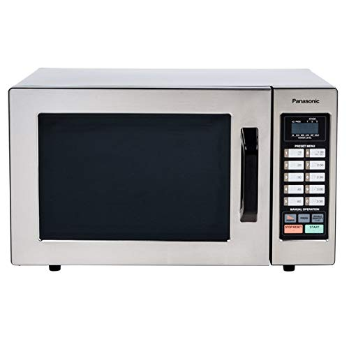 - Panasonic NE-1054F Countertop Commercial Microwave Oven Stainless Steel with 10 Programmable Memory and Touch Screen Control, 0.8 Cu. Ft, 1000W