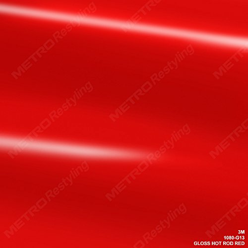 Red Hot Rod - 3M 1080 G13 GLOSS HOT ROD RED 3in x 5in (SAMPLE SIZE) Car Wrap Vinyl Film