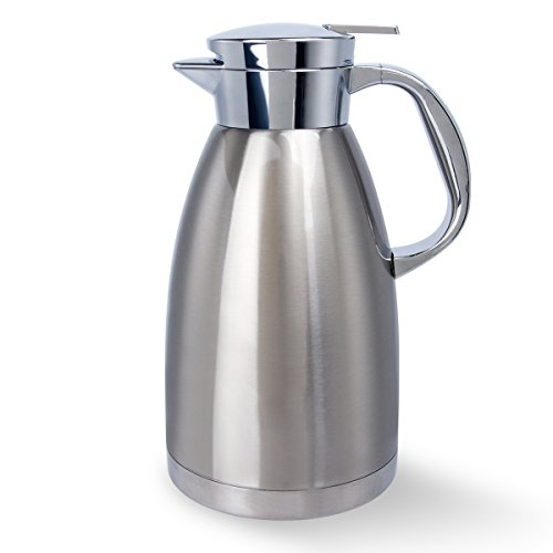 Stainless Steel Coffee Carafe 61 Oz Double Walled Vacuum Insulated Carafes by UNEED by Uneed (Image #7)