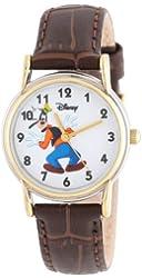 Disney Women's D075S007 Goofy Brown Leather Strap Watch