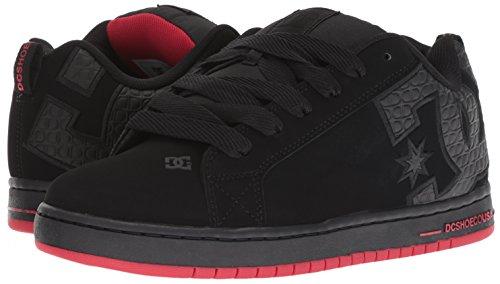 DC Men's Court Graffik SE Skate Shoe, Black/Red/Black, 13 Medium US by DC (Image #5)