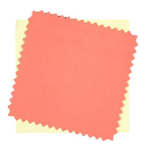 DCWV Coral/Green Rick Rack Card & Envelopes 10 PK By The Package ()