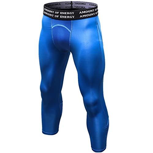 Traspirante Blu Exercise Collant Leggings Fitness Tight Running Wanyangg Workout 20 Bodybuilding Compressione A Sport Elasticità Baselayer Pantaloni Basketball Uomo xBPq1U