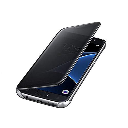 Johra Mirror_Flip_Black_Samsung_J7_Prime Flip Cover for Samsung Galaxy J7 Prime  Black