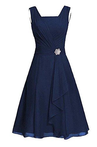 Ballkleider Abiball Abendkleider Abschlusskleider Marine Blau Lilybridal BrautjungfernKleider Chiffon 133 Kurz H6wx4qZ