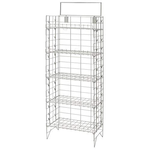 """Display Rack, 5 Shelf Silver Wire 24"""" x 14"""" x 61"""" (W x D x H)"""