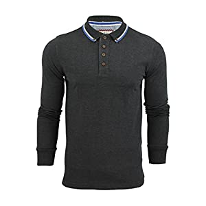 Brave Soul Mens Lincoln Cotton Polo T Shirt Long Sleeve Pique Casual Golf Top