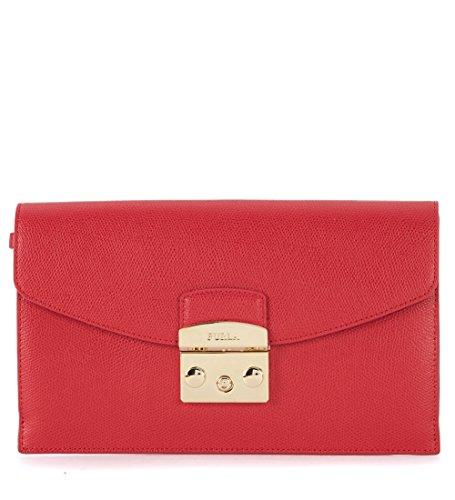 Pochette Furla Metropolis Envelope in pelle rossa