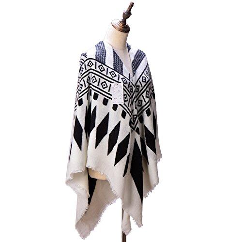 Womens Tartan Blanket Checked Pashmina
