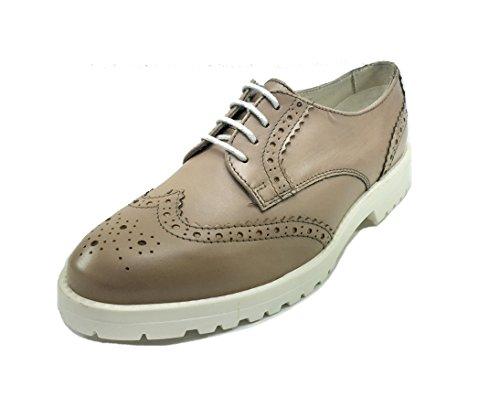 donna inglese in stile casual fondo sneakers PELLE Scarpe Beige gomma CAMOSCIO 07R18 dwIx7qd