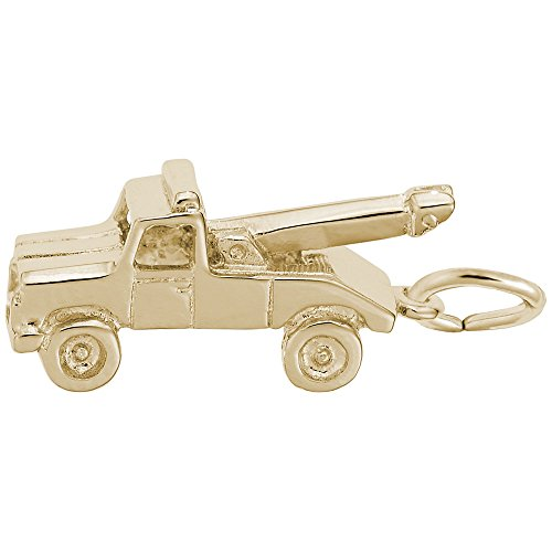 Gold Plated Tow Truck Charm, Charms for Bracelets and - Plated Truck Charm Gold
