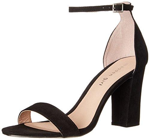 Madden+Girl+Women%27s+Beella+Dress+Sandal%2C+Black+Fabric%2C+11+M+US
