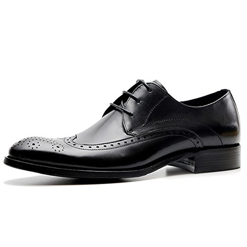 Scarpe Brogue Derbys Da Uomo Scarpe Da Lavoro Estive Per Uomo Abbigliamento Formale Scarpe Stringate In Vera Pelle Black