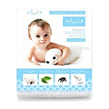 Milliard Hypoallergenic Terry Crib Mattress Protector, 28-Inch by 52-Inch by 6-Inch