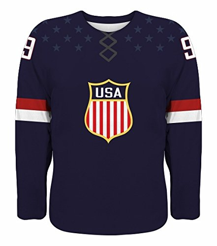 NEW 2016 USA Hockey World Cup Fan Edition Jersey NHL Eichel Moses Bonino Sexton Larkin Kane (Blue) (White)
