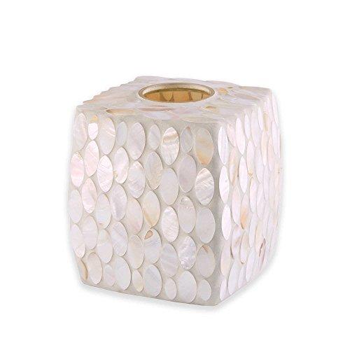 JLA Bath Sea Pearl Boutique Tissue Box Cover ()
