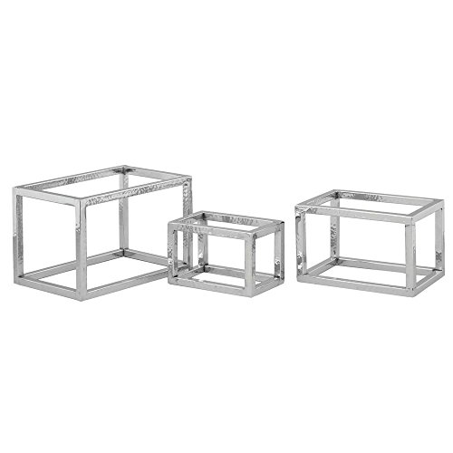Stainless Steel Riser Set (Expressly HUBERT Open Cube Hammered Stainless Steel Display Riser Set)