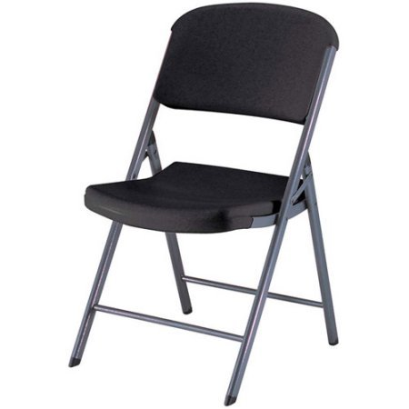 Lifetime Classic Commercial Folding Chair, Set of 4 Black by Lifetime