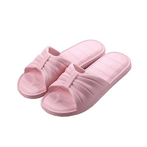 Pink Toe House Non Hotel fereshte Slip PVC Women Adults Slippers Unisex Women's Dark Open Men's Flat Indoor Travel xU1qzawPR