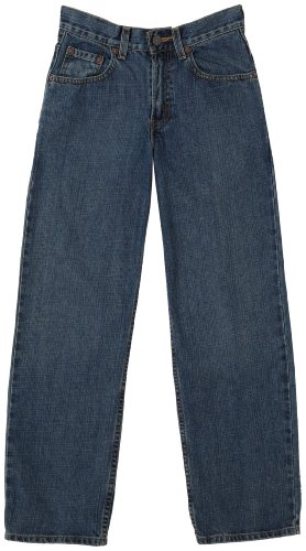 Levi's Boys 8-20 550 Relaxed Fit Jean Slim, CLEAN CROSSHATCH, 10 Slim (Tab Straight Leg)