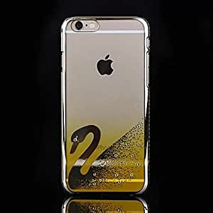 DD Swan Electroplate Diamonds Back Cover Case for iPhone 6 Plus(Assorted Colors) , Golden