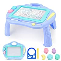 LITTLE SIENA Magnetic Drawing Board Toy, 13X10 Erasable Scribble Board Colorful Magna Doodles Writing Painting Sketching Pad for Toddler Boy Girl Kids Learning Travel Birthday Gift Present