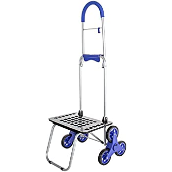 Stair Climber Bigger Mighty Max Dolly Cart, Blue Handtruck Hardware Garden Utility Cart